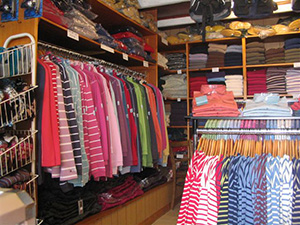Our Shop - a range of clothing.